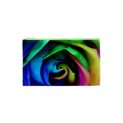 Rainbow Rose 17 Cosmetic Bag (xs) by bloomingvinedesign