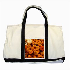 Pumpkins Tiny Gourds Pile Two Tone Tote Bag by bloomingvinedesign