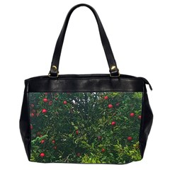 Apple Tree Close Up Oversize Office Handbag (2 Sides)
