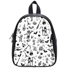 Halloween Pattern School Bag (small) by Valentinaart