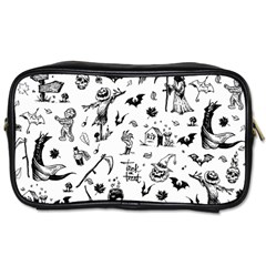 Halloween Pattern Toiletries Bag (two Sides) by Valentinaart