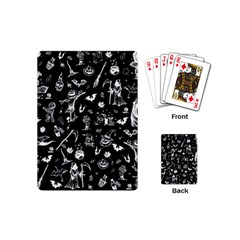 Halloween Pattern Playing Cards (mini) by Valentinaart