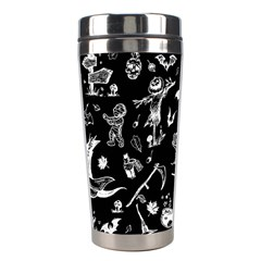 Halloween Pattern Stainless Steel Travel Tumblers by Valentinaart
