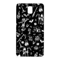 Halloween Pattern Samsung Galaxy Note 3 N9005 Hardshell Back Case by Valentinaart