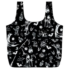 Halloween Pattern Full Print Recycle Bag (xl) by Valentinaart