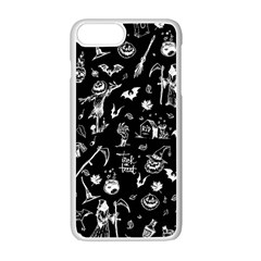Halloween Pattern Apple Iphone 7 Plus Seamless Case (white) by Valentinaart