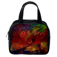 Abstract Fall Swirls Classic Handbag (one Side)