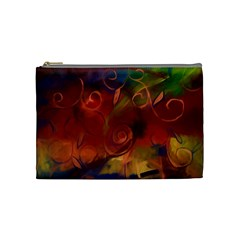 Abstract Fall Swirls Cosmetic Bag (medium) by bloomingvinedesign