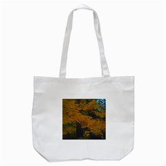Yellow Fall Leaves And Branches Tote Bag (white) by bloomingvinedesign