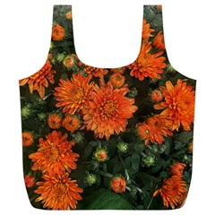 Orange Fall Mums Full Print Recycle Bag (xl) by bloomingvinedesign