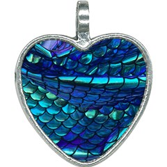 Mermaid Print Heart Necklace