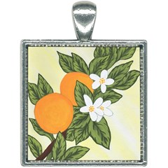 Orange Blossoms Square Necklace by lwdstudio