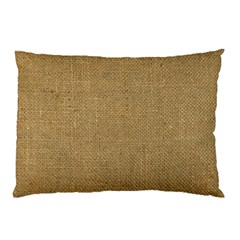 Burlap Coffee Sack Grunge Knit Look Pillow Case by dressshop