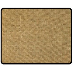 Burlap Coffee Sack Grunge Knit Look Fleece Blanket (medium)  by dressshop