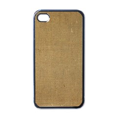 Burlap Coffee Sack Grunge Knit Look Apple Iphone 4 Case (black) by dressshop
