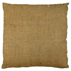 Burlap Coffee Sack Grunge Knit Look Large Cushion Case (two Sides) by dressshop