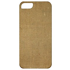 Burlap Coffee Sack Grunge Knit Look Apple Iphone 5 Classic Hardshell Case by dressshop