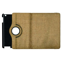 Burlap Coffee Sack Grunge Knit Look Apple Ipad 3/4 Flip 360 Case by dressshop