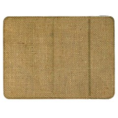 Burlap Coffee Sack Grunge Knit Look Samsung Galaxy Tab 7  P1000 Flip Case by dressshop