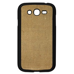 Burlap Coffee Sack Grunge Knit Look Samsung Galaxy Grand Duos I9082 Case (black) by dressshop