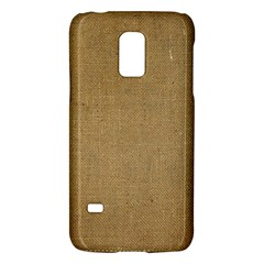 Burlap Coffee Sack Grunge Knit Look Samsung Galaxy S5 Mini Hardshell Case  by dressshop