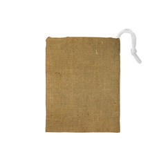 Burlap Coffee Sack Grunge Knit Look Drawstring Pouch (small) by dressshop