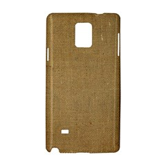Burlap Coffee Sack Grunge Knit Look Samsung Galaxy Note 4 Hardshell Case by dressshop