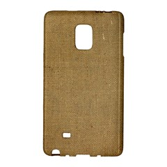 Burlap Coffee Sack Grunge Knit Look Samsung Galaxy Note Edge Hardshell Case by dressshop