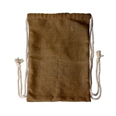 Burlap Coffee Sack Grunge Knit Look Drawstring Bag (small) by dressshop