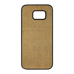 Burlap Coffee Sack Grunge Knit Look Samsung Galaxy S7 Edge Black Seamless Case by dressshop