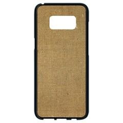 Burlap Coffee Sack Grunge Knit Look Samsung Galaxy S8 Black Seamless Case by dressshop