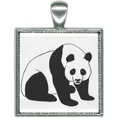 Giant Panda Square Necklace