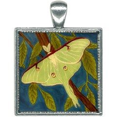 Luna Moth Square Necklace by lwdstudio