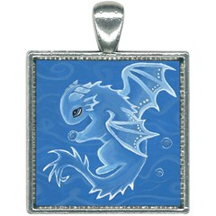 Water Dragon Square Necklace