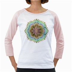 Star Flower Glass Sexy Chromatic Symmetric Girly Raglan