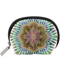 Star Flower Glass Sexy Chromatic Symmetric Accessory Pouch (small) by Jojostore