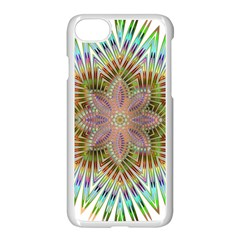 Star Flower Glass Sexy Chromatic Symmetric Apple Iphone 8 Seamless Case (white) by Jojostore