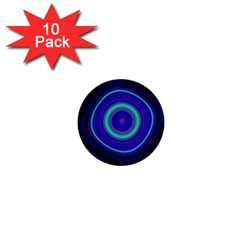Digital Art Background Pink Blue 1  Mini Buttons (10 Pack)