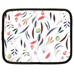 Watercolor Tablecloth Fabric Design Netbook Case (xl) by Sapixe