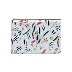 Watercolor Tablecloth Fabric Design Cosmetic Bag (medium) by Sapixe