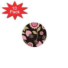 Flowers Wallpaper Floral Decoration 1  Mini Buttons (10 Pack)
