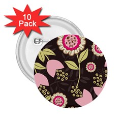 Flowers Wallpaper Floral Decoration 2 25  Buttons (10 Pack)