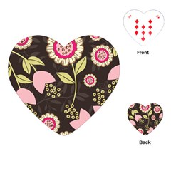 Flowers Wallpaper Floral Decoration Playing Cards (heart)