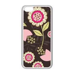 Flowers Wallpaper Floral Decoration Apple Iphone 5c Seamless Case (white) by Sapixe