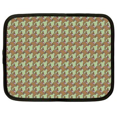 Barrel Of Monkey's Houndstooth Pattern Bags Netbook Case (large)