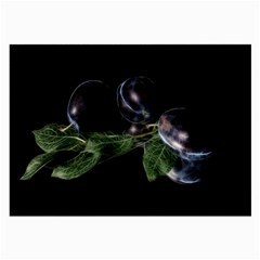 Plums Photo Art Fractalius Fruit Large Glasses Cloth by Sapixe
