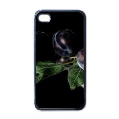 Plums Photo Art Fractalius Fruit Apple Iphone 4 Case (black) by Sapixe