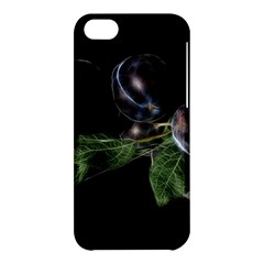 Plums Photo Art Fractalius Fruit Apple Iphone 5c Hardshell Case by Sapixe