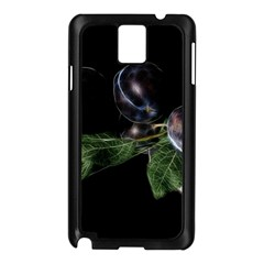 Plums Photo Art Fractalius Fruit Samsung Galaxy Note 3 N9005 Case (black)