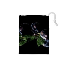 Plums Photo Art Fractalius Fruit Drawstring Pouch (small) by Sapixe